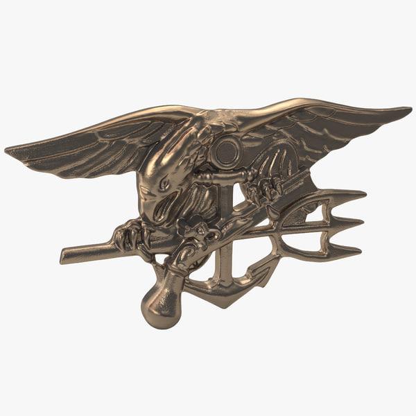 Navy Seals Insignia 3D Models