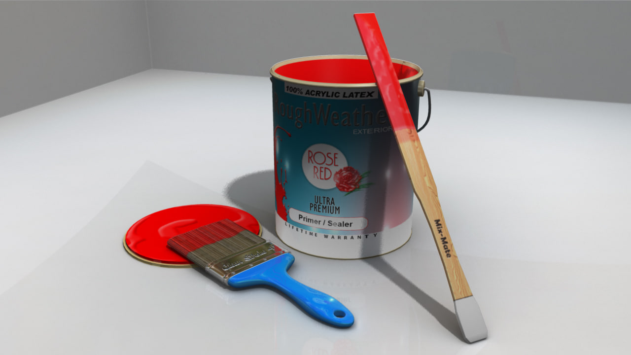 Paint Brush and Supplies