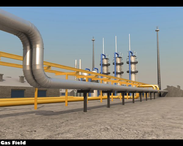 Gas Field 3D Models