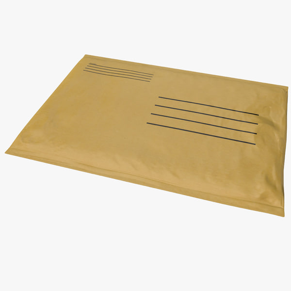 Small Yellow Envelope 3D Models