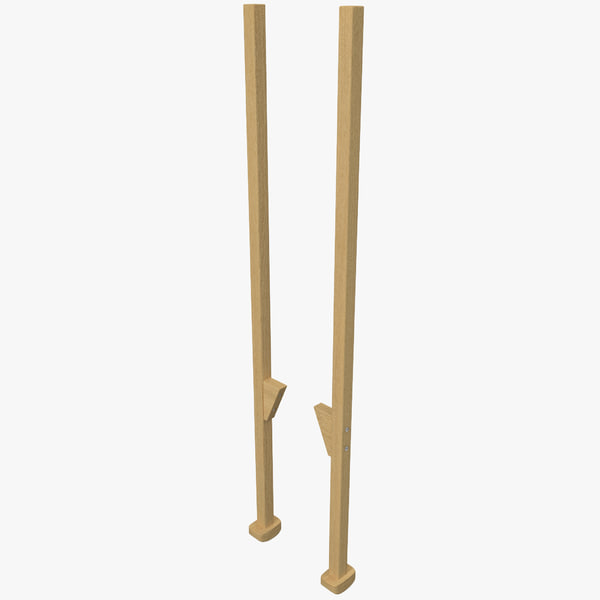 Wooden Walking Stilts 3D Models
