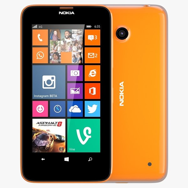 Nokia Lumia 630/635 Dual SIM Bright Orange Texture Maps