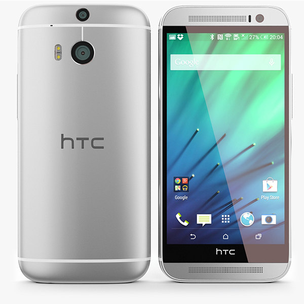 HTC One M8 Silver 3D Models