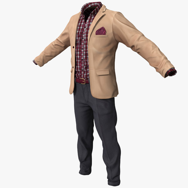 Work Casual Clothes 2 3D Models