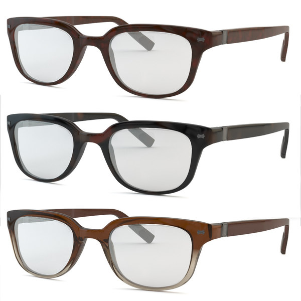 glasses with 3 materials 3D Models