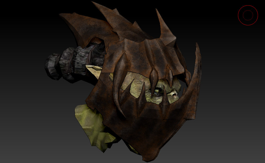 Moria Orc Head & Helmet