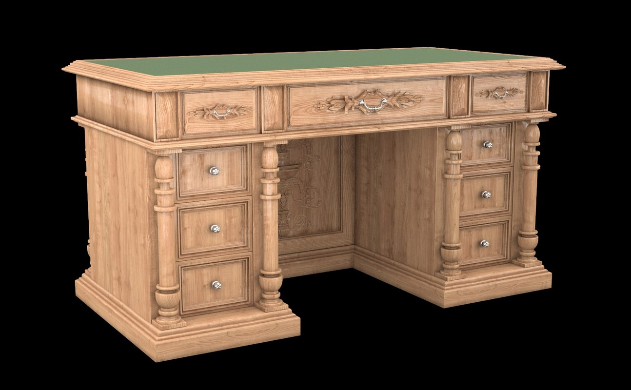 Classical antiquarian room table