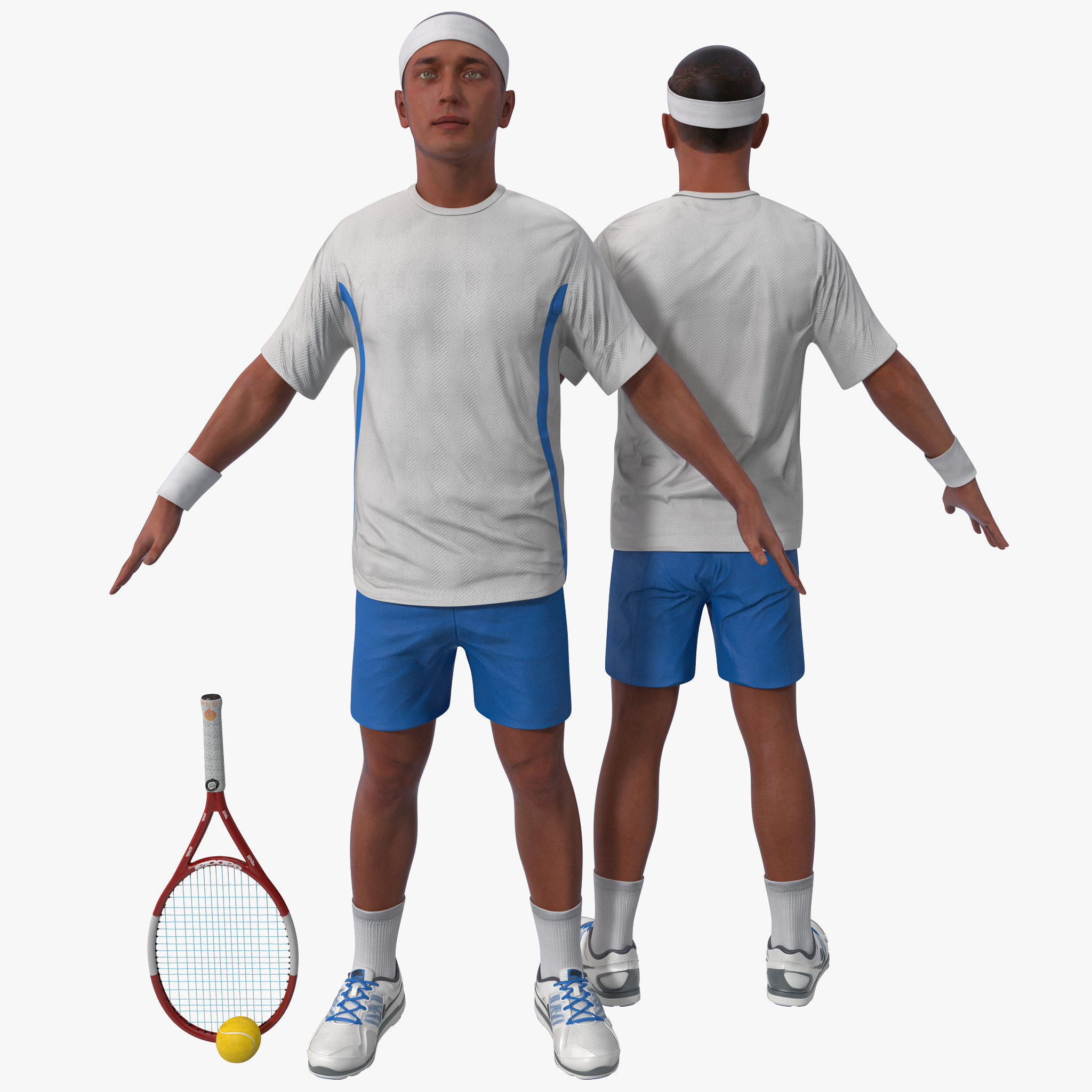 Tennis Player Rigged 2
