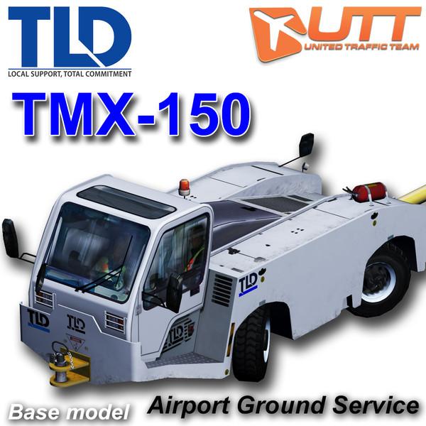 TLD TMX-150 Push back apron tractor 3D Models
