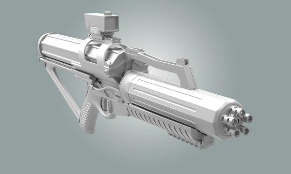 Calico Minigun Rifle Texture Maps