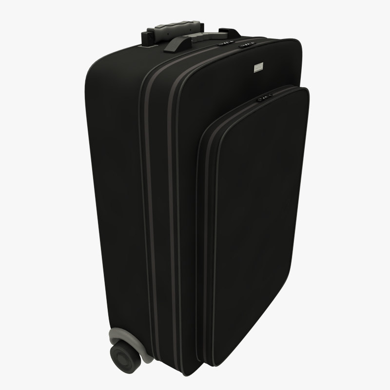 travel baggage suitcase black
