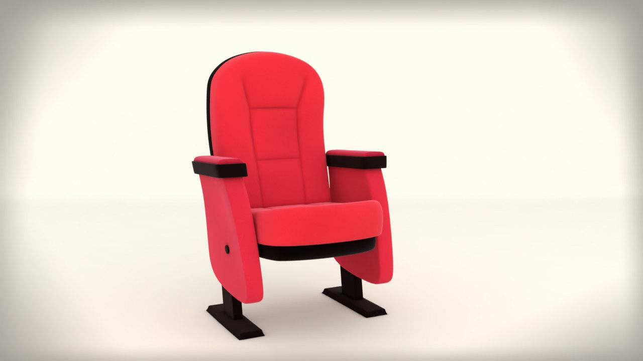 cartoon theater seat 3d max