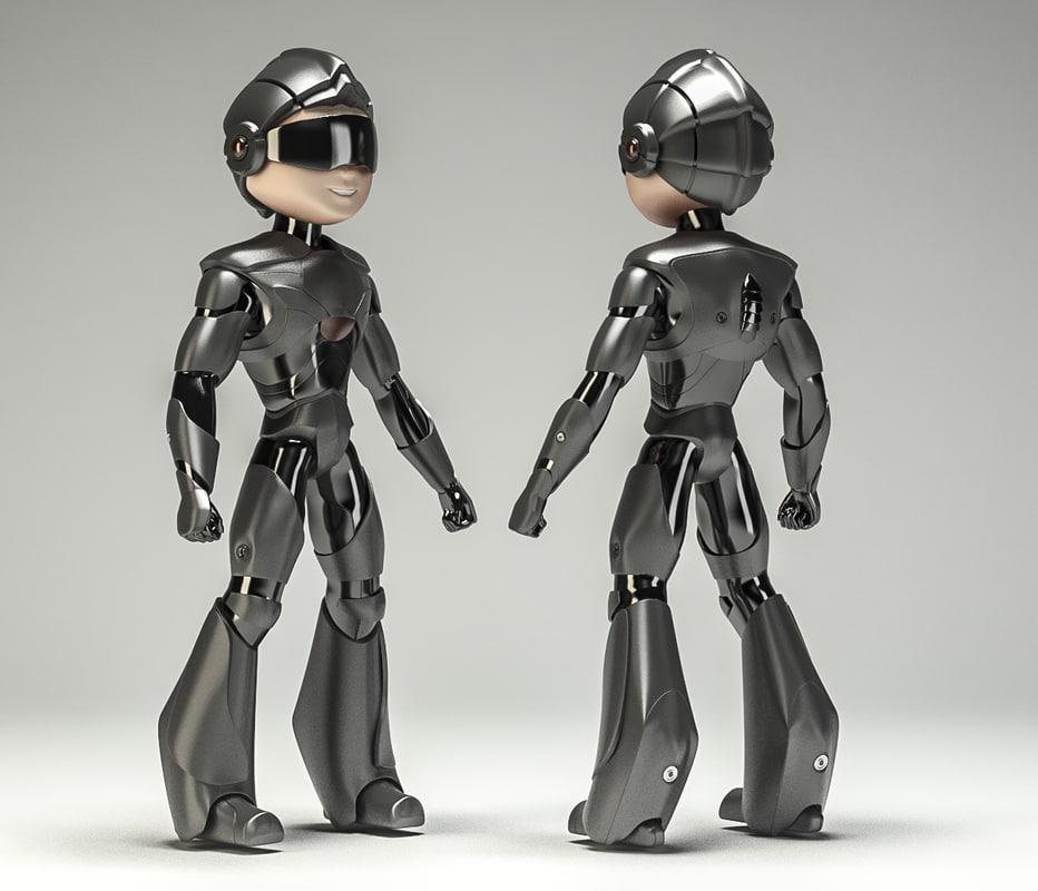 robot cop boy armored