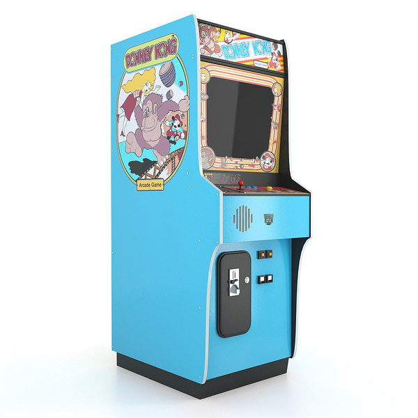 Donkey Kong Arcade Game Machine 3D Models