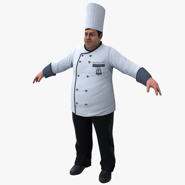 Chef Rigged 3D Models