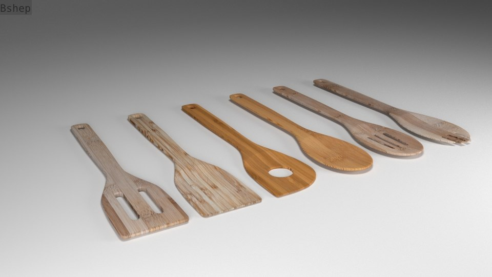 Bamboo Spatula and spoon collection