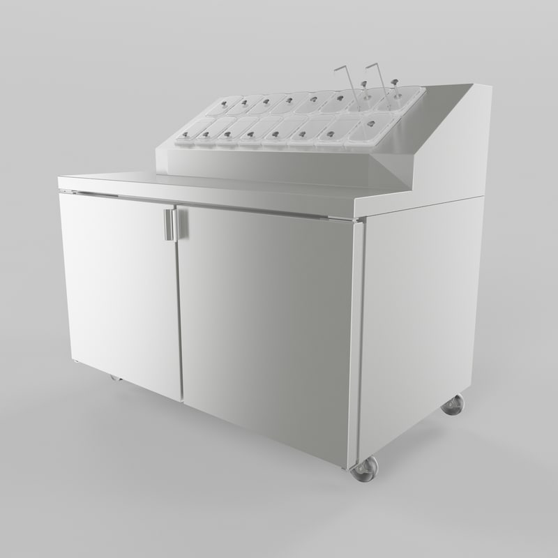 Ice Cream Topping Cabinet