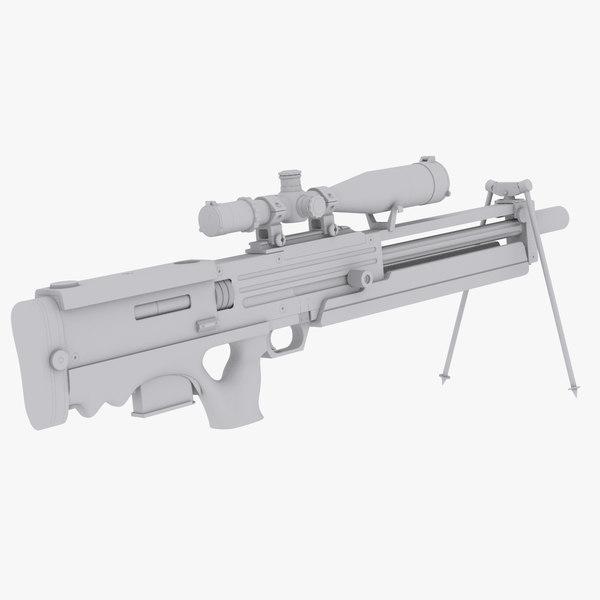 Walther WA2000 No Materials 3D Models