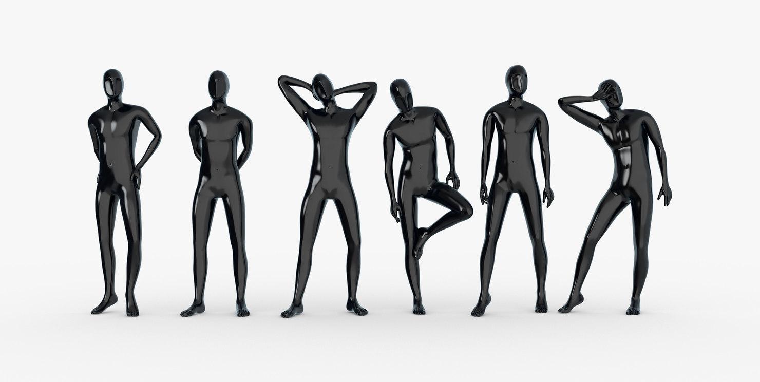 Male mannequins set 1