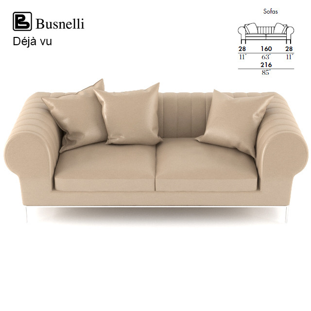 3d busnelli deja vu sofa design model