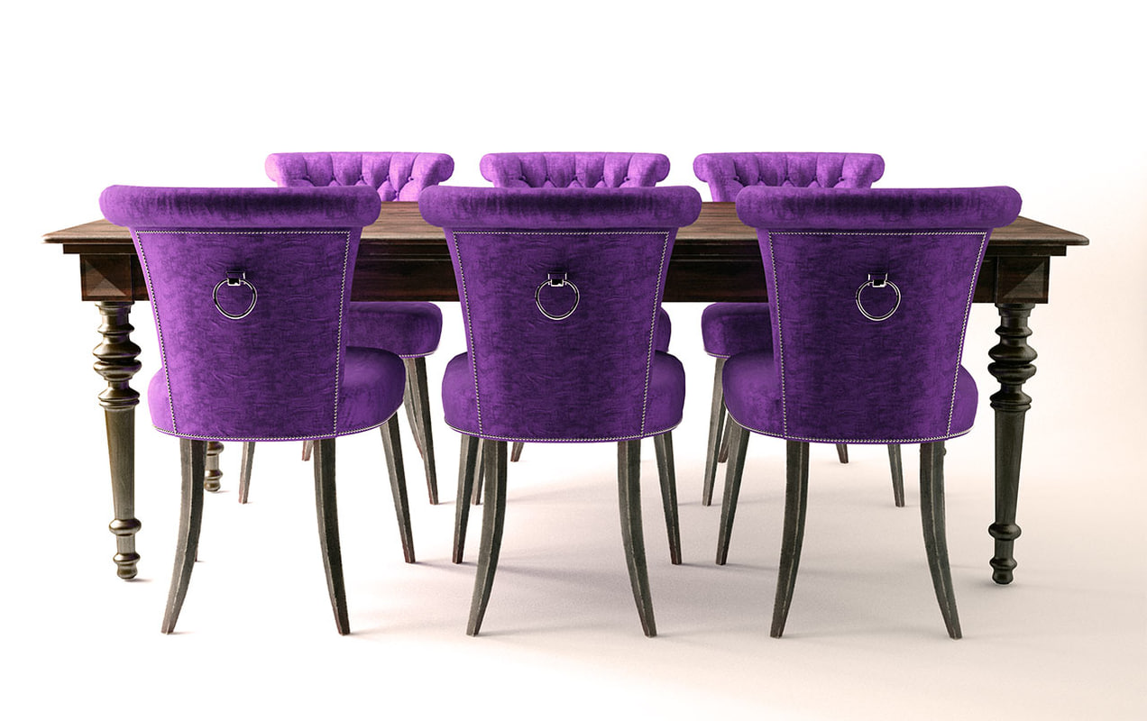 3ds max dining table chairs for Dining room table 3ds max