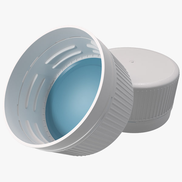 Plastic Bottle Screw Cap 3D Models