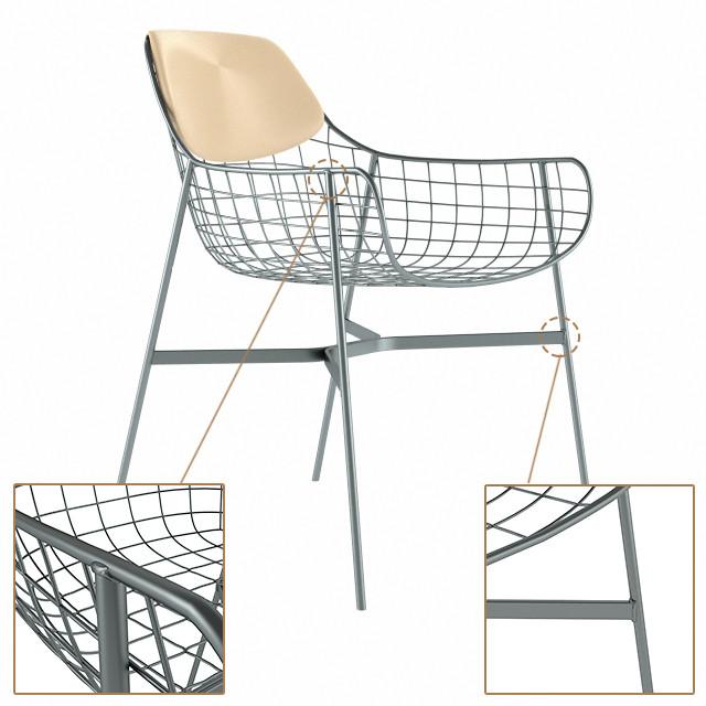 maya metal armchair lounge chair