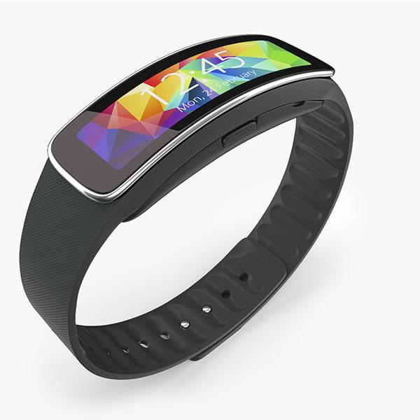 Samsung Gear Fit Black 3D Models