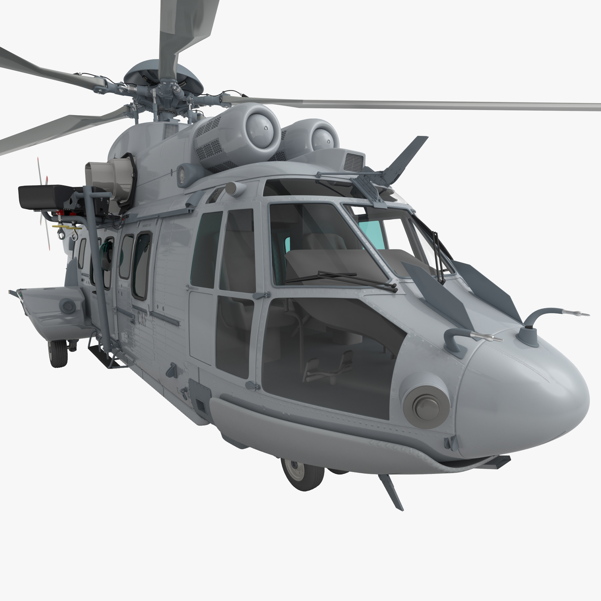 Eurocopter EC725 Caracal Tactical Transport Helicopter Rigged 3