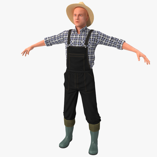 Farmer Rigged 3D Models
