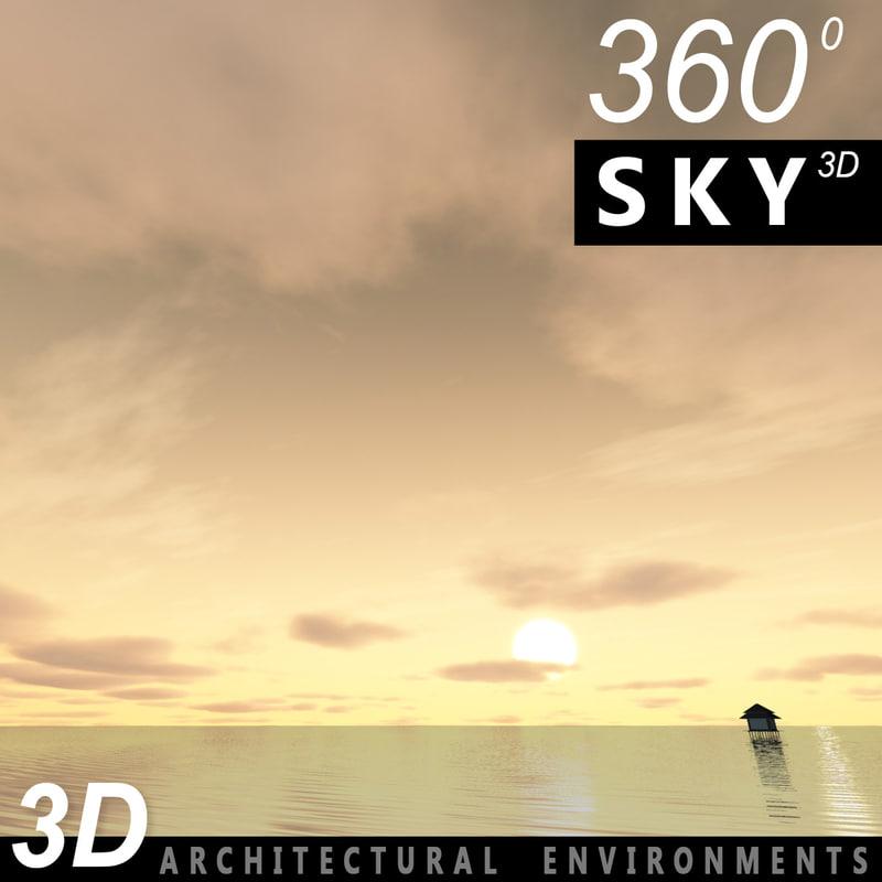 Sky 3D Sunset 048