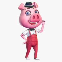 Cartoon Pig 3D models