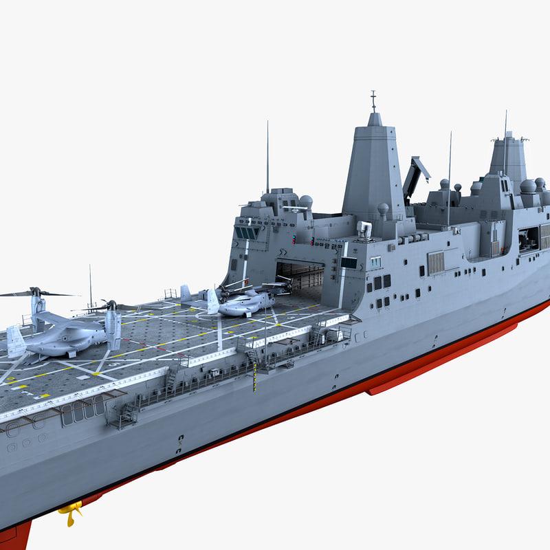 LPD22 USS San Diego with MV-22B Osprey