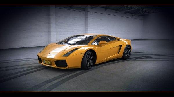 Lamborghini Gallardo with HQ Interior 2003 3D Models