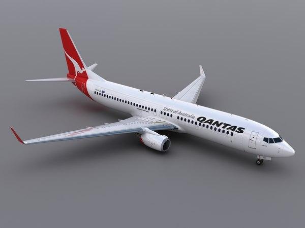 737-800 - Qantas (2014) 3D Models