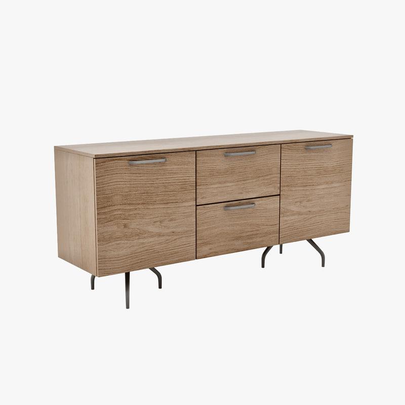 3d model modeled architectural. Black Bedroom Furniture Sets. Home Design Ideas