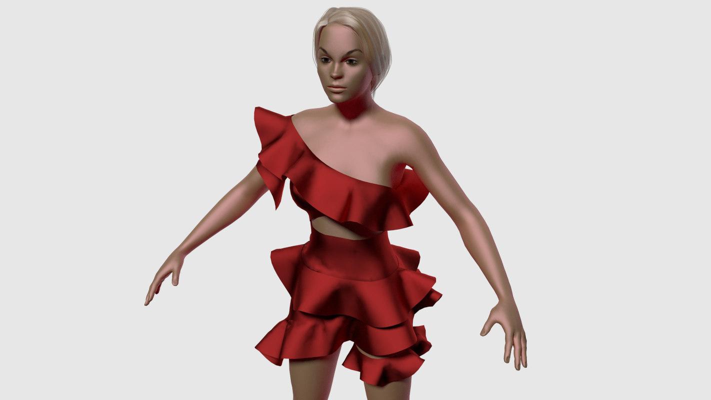 Jennifer Fancy Red Dress