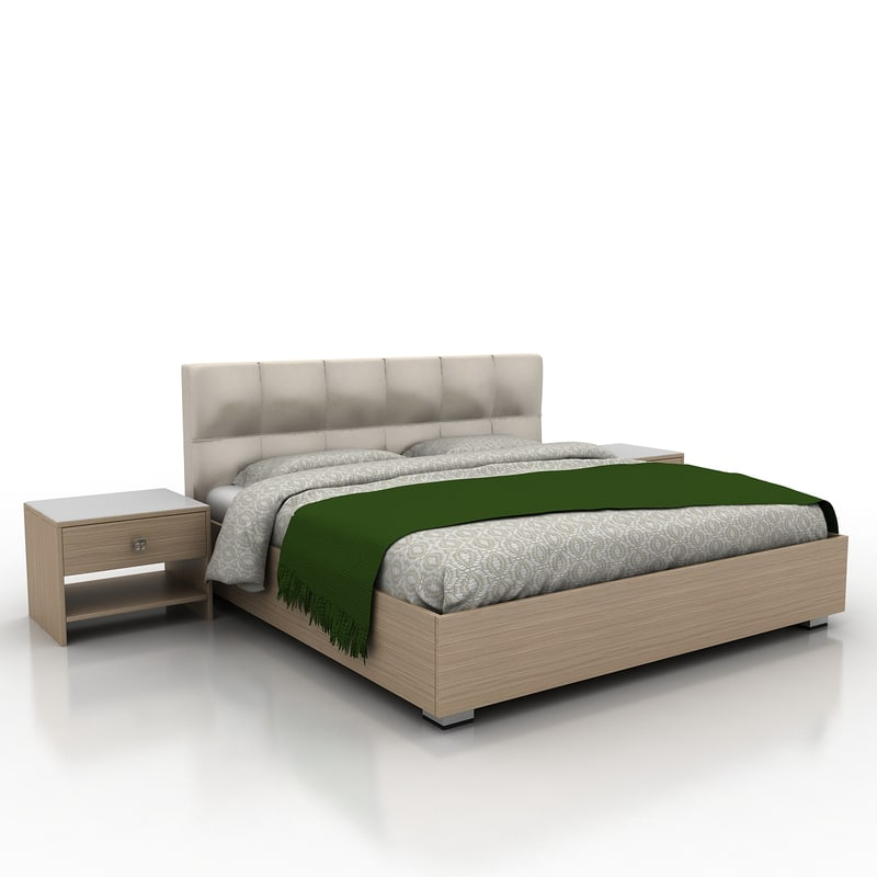 3ds max bed materials for 3ds max bed model