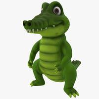 cartoon crocodile 3D models