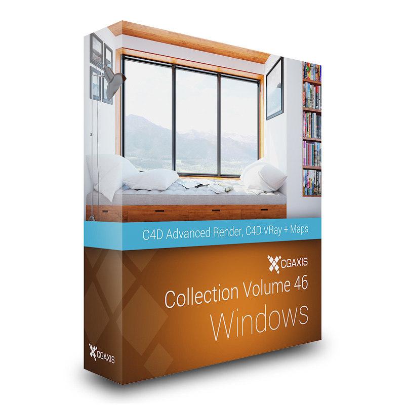 CGAxis Models Volume 46 Windows C4D