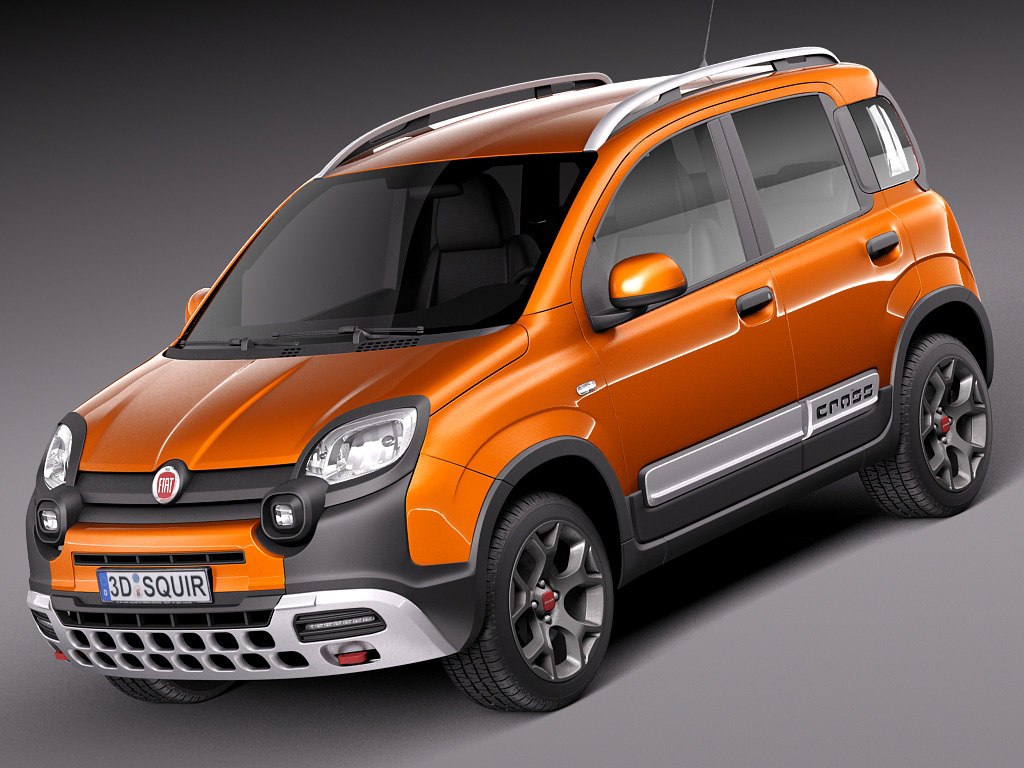 3d 2014 fiat panda model. Black Bedroom Furniture Sets. Home Design Ideas