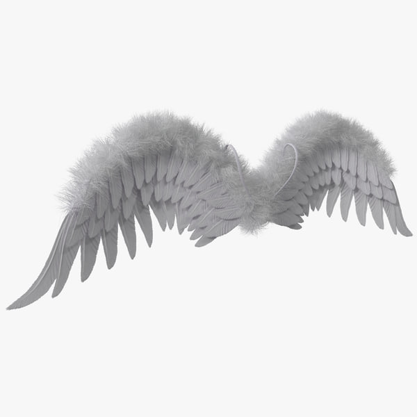 Costume Angel Wings Fur 3D Models