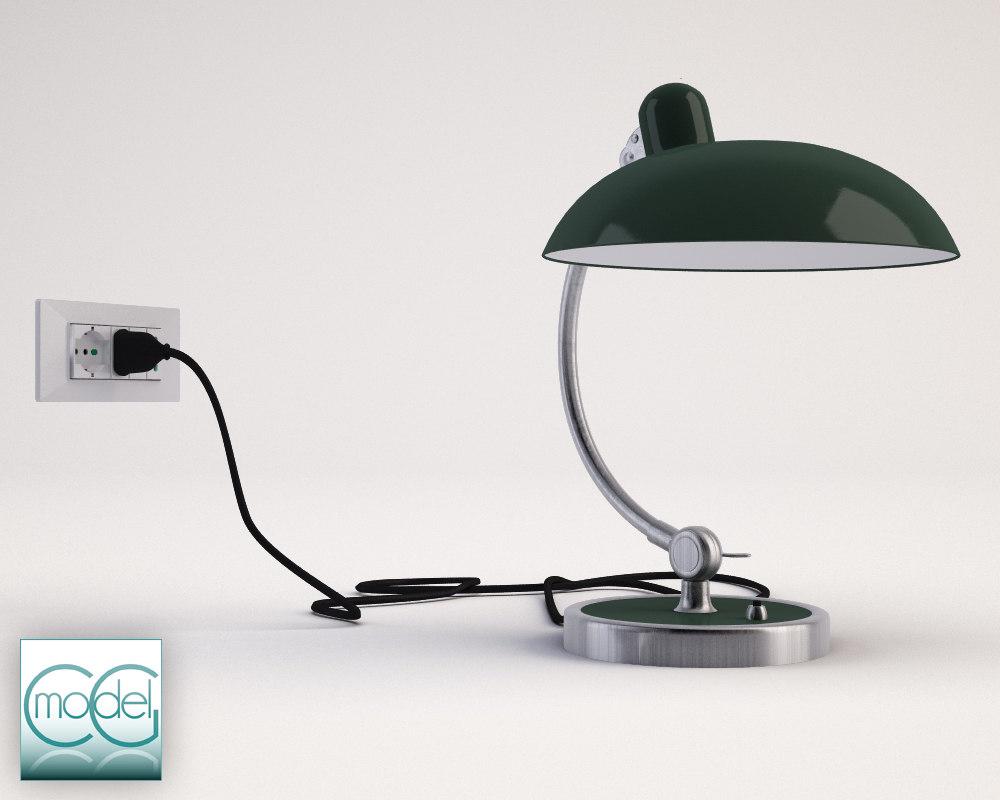 lamp kaiser idell 3d 3ds. Black Bedroom Furniture Sets. Home Design Ideas