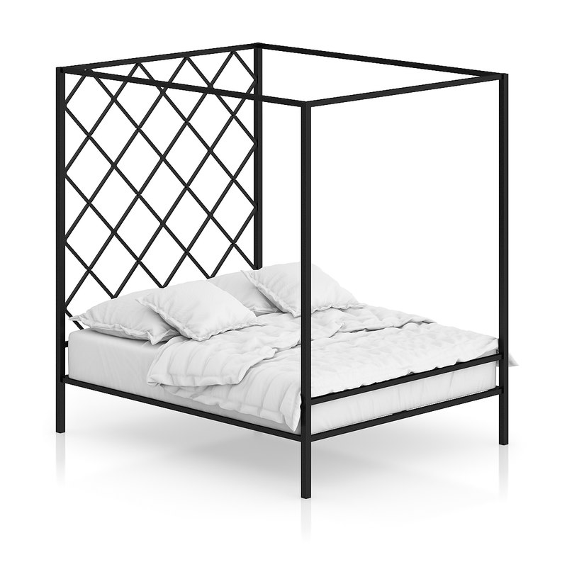 Large Metal Bed
