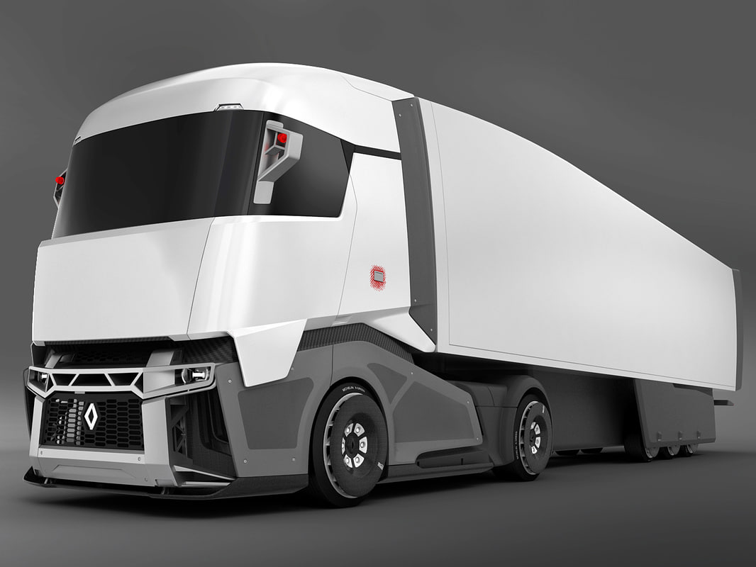renault concept truck 3d model. Black Bedroom Furniture Sets. Home Design Ideas