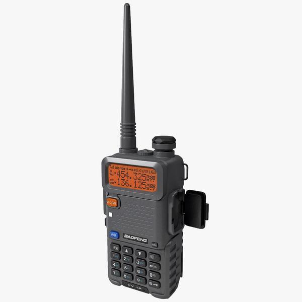 Two Way Radio BaoFeng UV-5R 3D Models