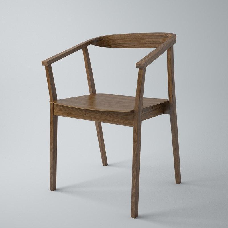 ikea stockholm dining chair 3d max. Black Bedroom Furniture Sets. Home Design Ideas