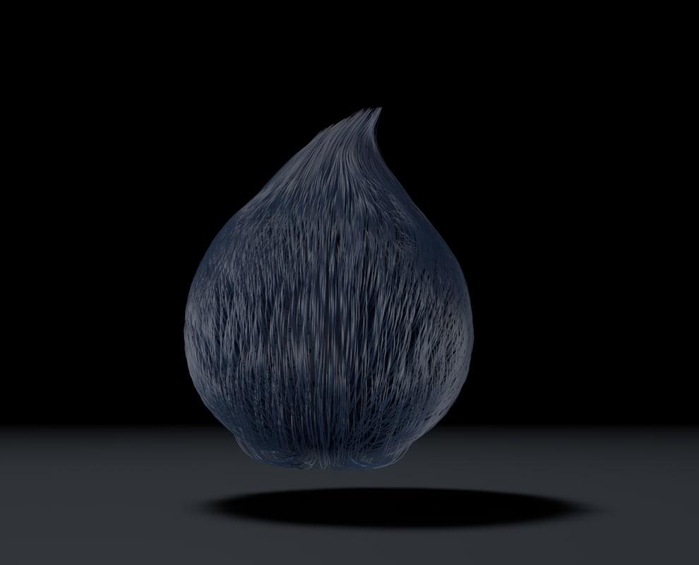 MoreRam 3D_teardrop hair