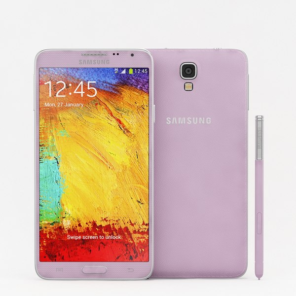 Samsung Galaxy Note 3 Neo Pink 3D Models