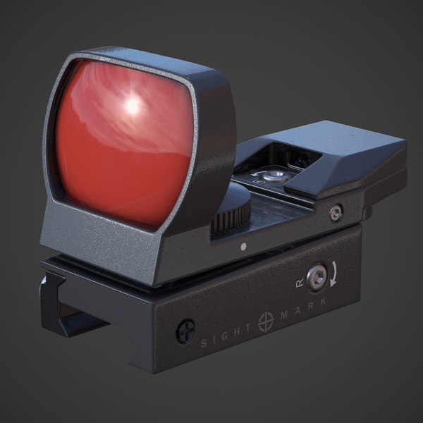 Sure Shot Reflex Sight 3D Models
